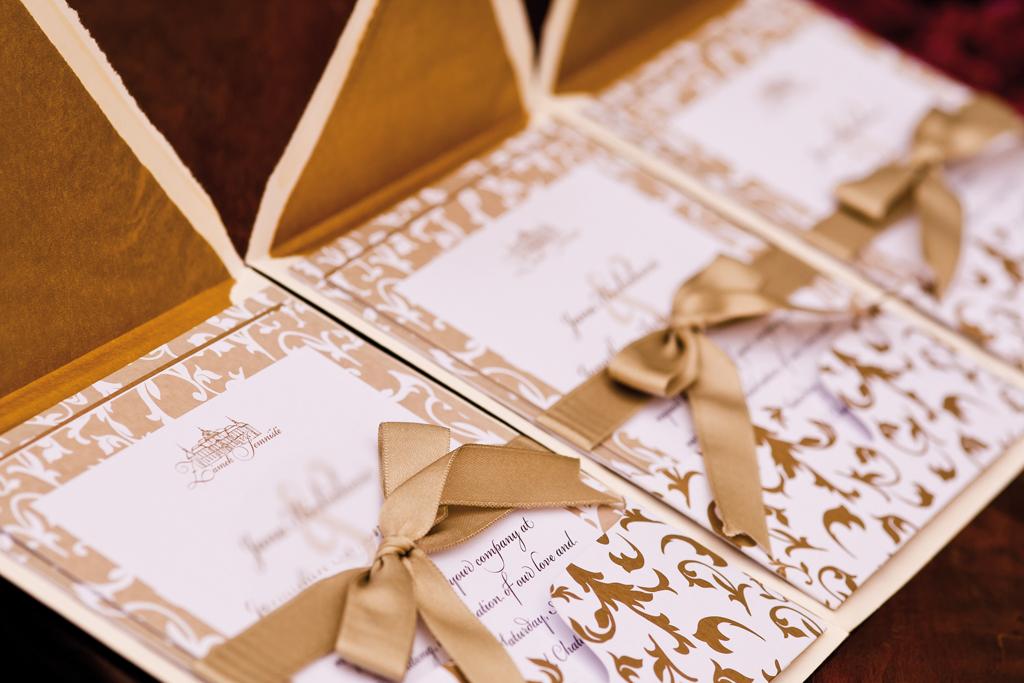 Zámek Jemniště - svatební oznámení v kapsišce