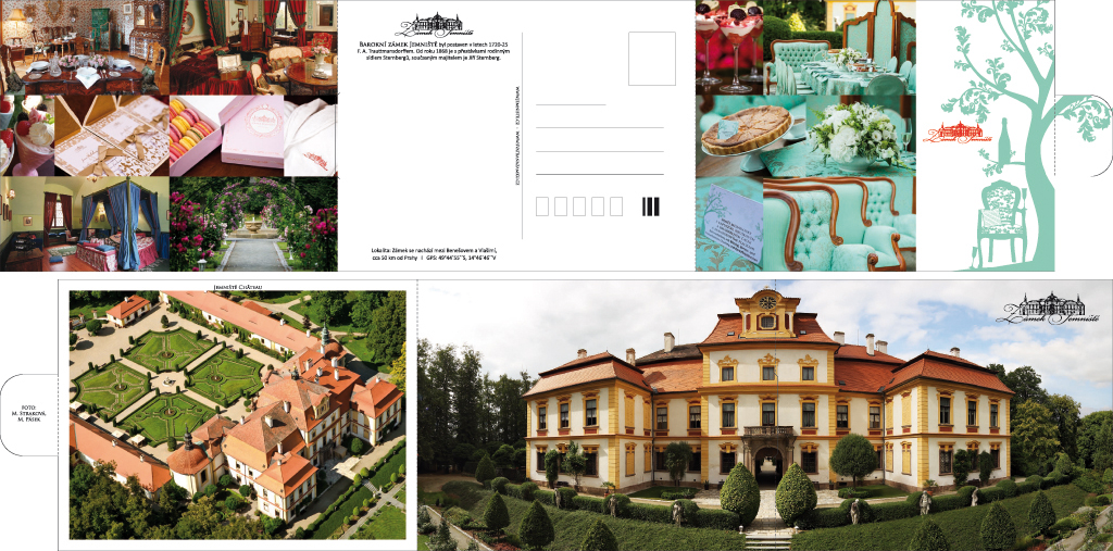 Zámek Jemniště - pohlednice