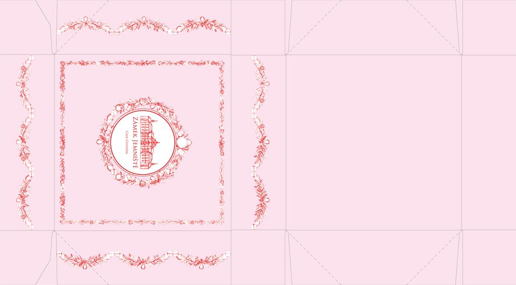 Cafe Custoza - krabička na makronky (návrh)