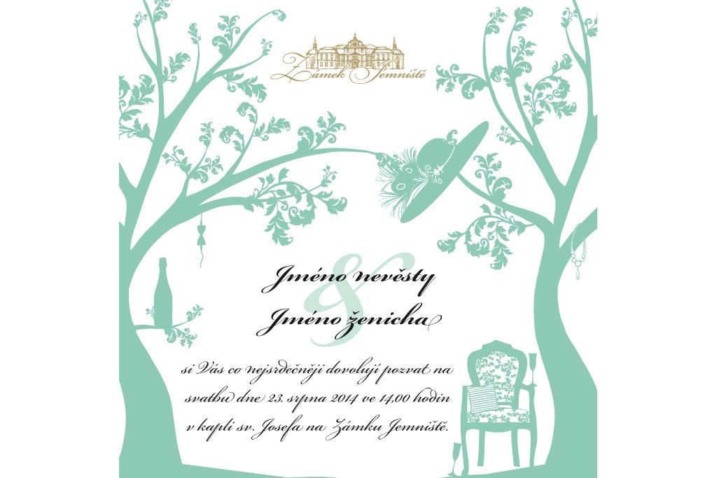 Zámek Jemniště - svatební oznámení